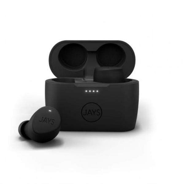 JAYS m-Seven True Wireless Wireless Earphone (Bluetooth 5.0 / Continuous playback 9.5 hours / IPX5 Drip-proof / Touch operation / Black / Black) JS-MSTW-B/B Singapore