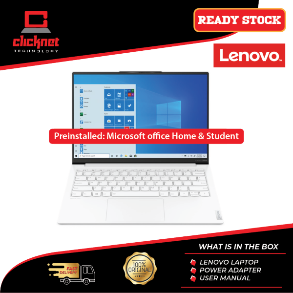 Lenovo Yoga Slim 7 Carbon 13ITL5 82EV0029MJ 13.3 QHD Laptop Moon White I7-1165G7, 16GB, 1TB SSD, Intel, W10, HS Malaysia