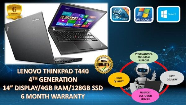 LENOVO THINKPAD T440 ULTRABOOK - CORE i5/ 4GB/ 128GB SSD [6 MONTHS WARRANTY] Malaysia