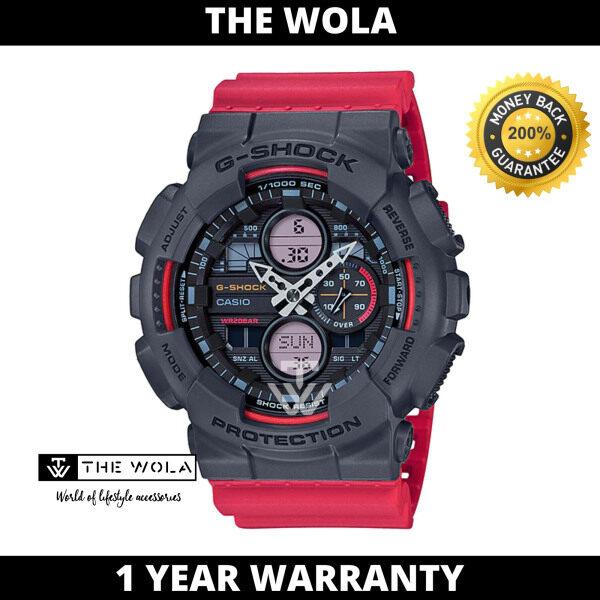 (100% Original G SHOCK) GSHOCK Men Sport Digital Watch GA-140-4ADR (watch for man / jam tangan lelaki / G SHOCK watch for men / G SHOCK watch / men watch / watch for men) Malaysia