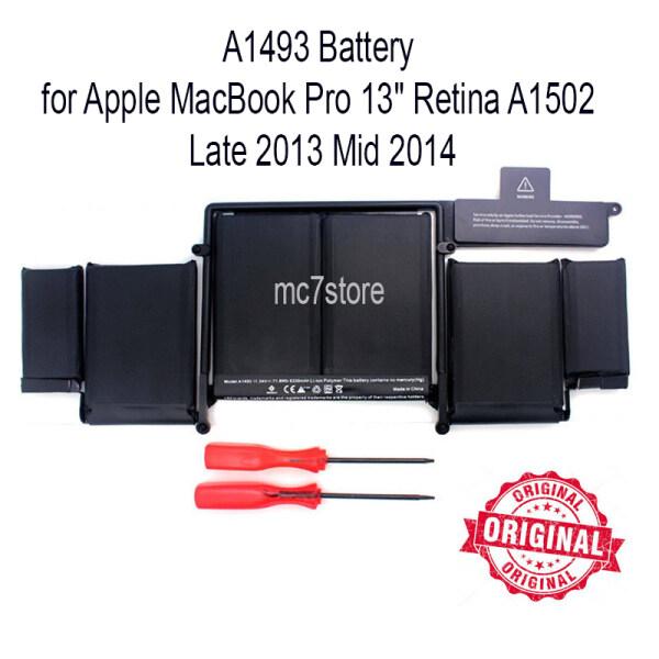 Original Battery A1493 for Apple MacBook Pro 13 Retina A1502 Late 2013-Mid 2014 Free Screwdriver Malaysia