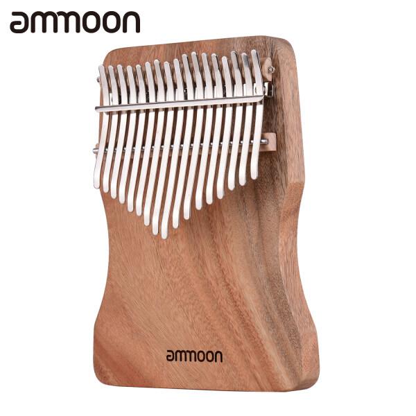 Ammoon 17-Kunci Thumb Piano Kalimba Camphorwood C Nada dengan Membawa Beg Buku Muzik Skala Muzik Pelekat Penalaan Tukul rantaian Iringan Hiasan Tassel Pelindung Jari Hadiah Muzik Malaysia
