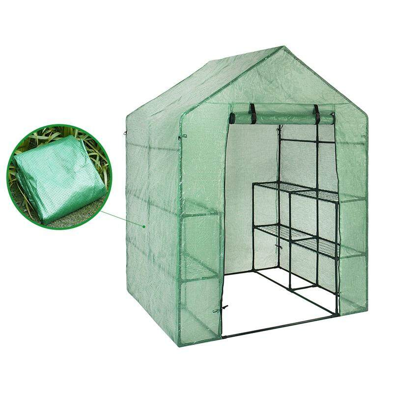 Portable Plastic Garden Greenhouse Cover Not Include Shelf For 2 Layer Mini Walk In Greenhouse Outdoor