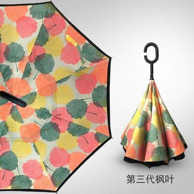 2019 a prueba de viento paraguas plegable de doble capa invertida Chuva sombrillas de soporte dentro lluvia Dropshipping. exclusivo.,Umbrella L