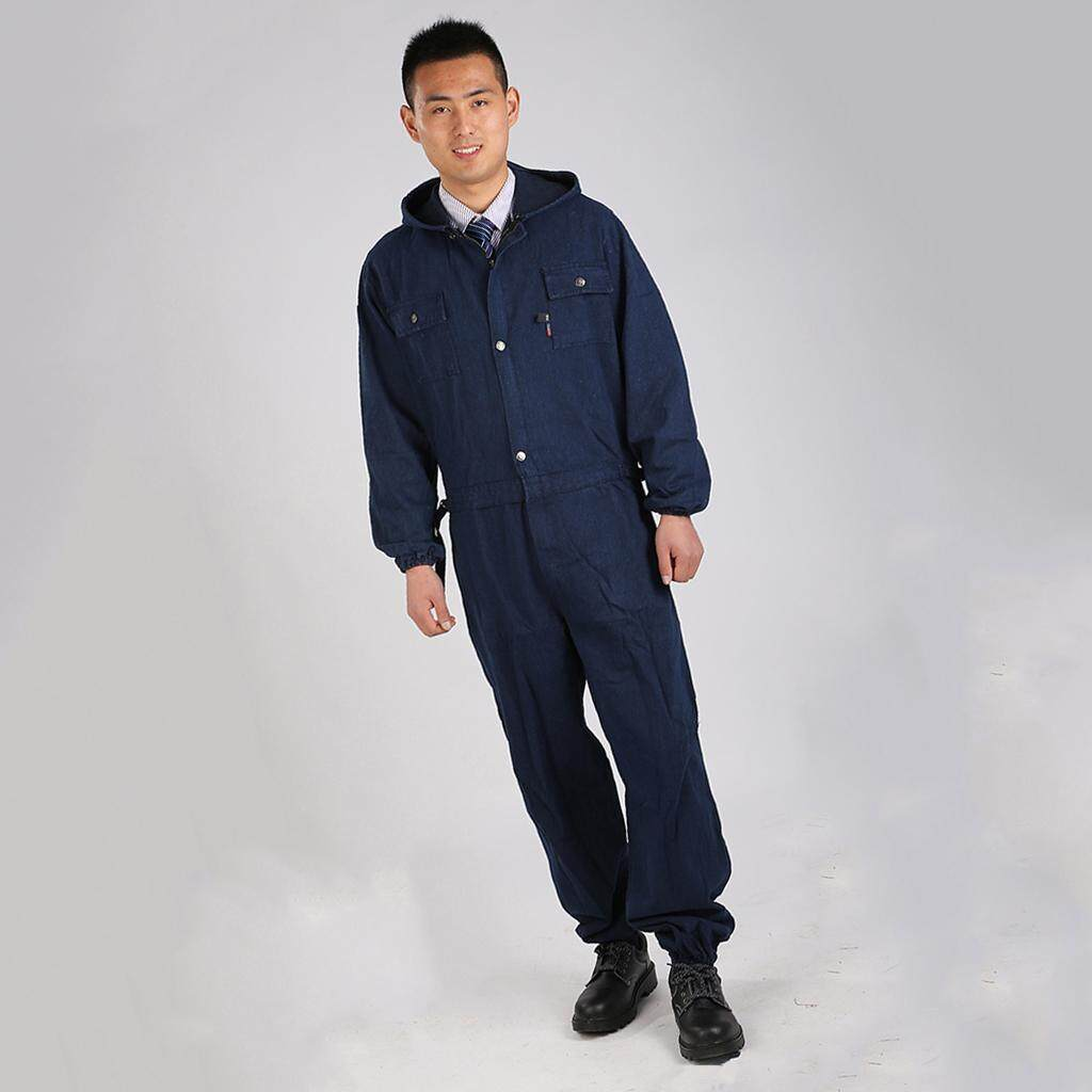 Blesiya Jeans Jumpsuit Working Uniform Electric Steam Welding Suit Dust-proof