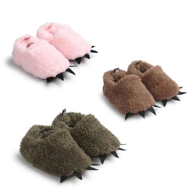 Dép Con Quái Vật Lông Cừu Mềm Tốt Tuyết Bé Trai Bé Gái Ấm Áp Đáng Yêu Cũi Giản Dị Giày Em Bé Sang Trọng Mùa Đông giá rẻ