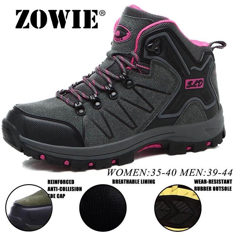 Zowie Pria Wanita Tahan Lama Sepatu Mendaki Pasangan Gunung Climbling Super Sepatu Sepatu Mendaki Serap Keringat