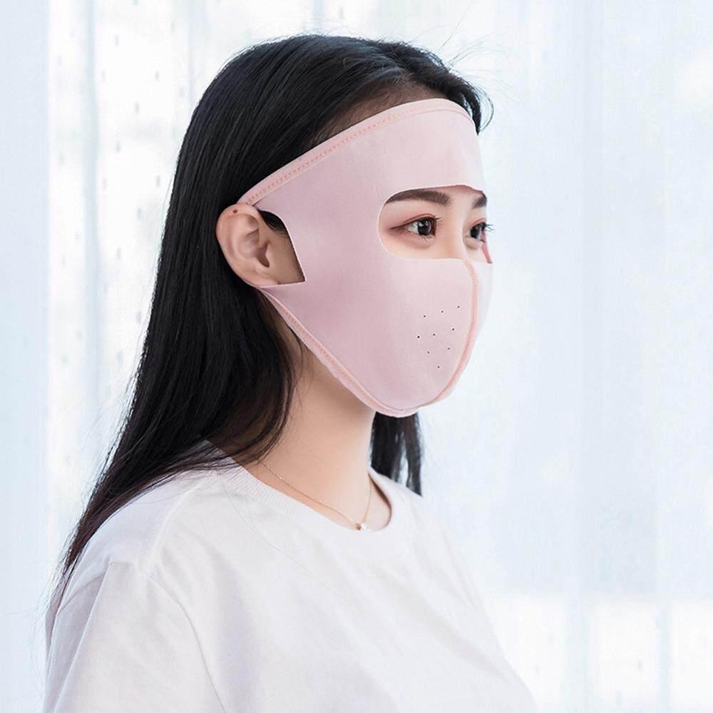 Jomoo Store ผู้ชายและผู้หญิงผ้าไหมน้ำแข็งสามารถทำความสะอาดได้ Uv ป้องกันฤดูใบไม้ผลิและฤดูร้อนครีมกันแดดบางหน้ากาก By Jomoo Store.