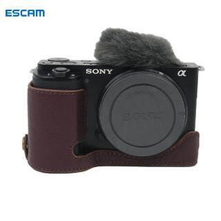 ESCAM Ốp Đáy Máy Ảnh Bằng Da Thật Vỏ Bảo Vệ Nửa Thân Có Mở Pin Cho ZV-E10 Sony thumbnail