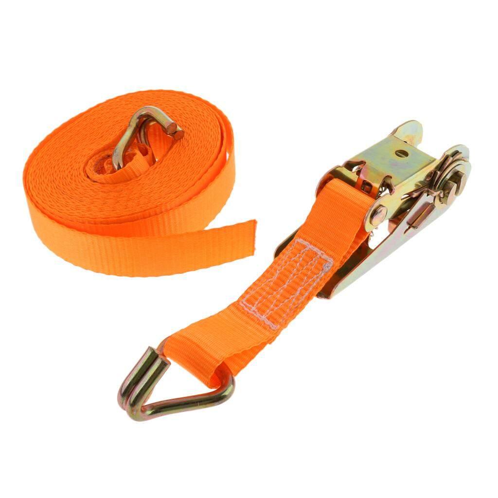 BolehDeals 6M Long X 25mm Width Ratchet Tie Down Strap Webbing with Double J Hooks