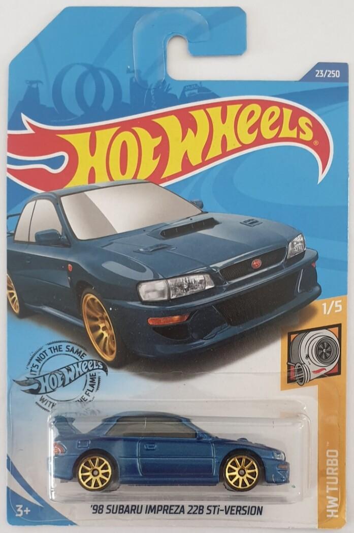 Hot Wheels 2020 98 SUBARU IMPREZA 22B STi-VERSION 23//250 HW Turbo 1//5 GHB42