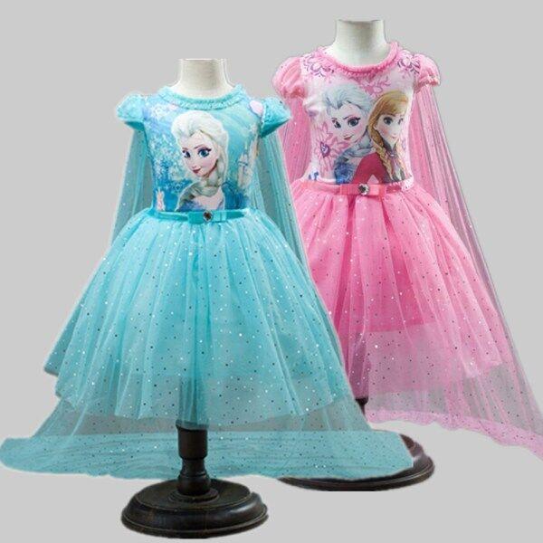 Giá bán Váy Bé Gái Quần Áo Mùa Hè Cho Bé Váy Công Chúa Anna Elsa Cho Bé Gái Trang Phục Cosplay Nữ Hoàng Tuyết Trang Phục Dự Tiệc Cho Trẻ Em