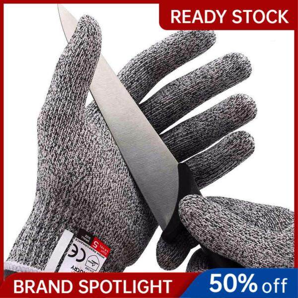 (HIGH CUT RESISTANCE) Cut Resistant Glove Food Grade Level 5.5 Protection Cuts Gloves Kitchen Safety Hand Gloves 1 Pair