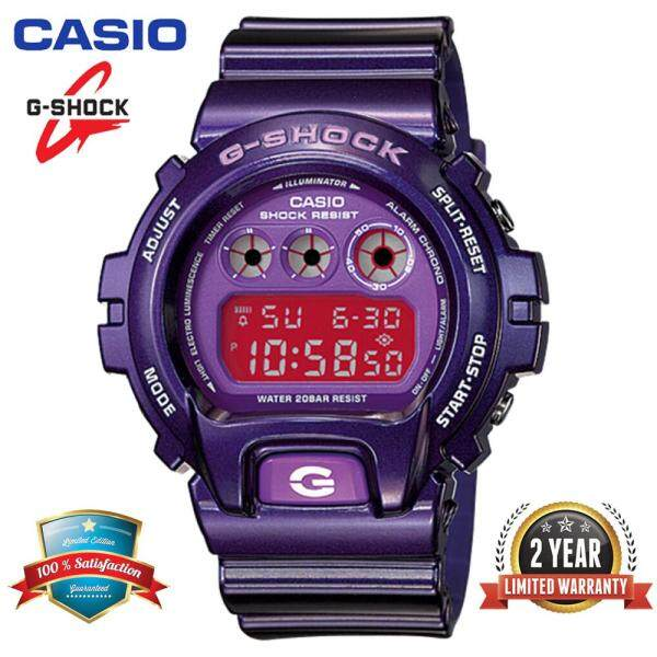 2020 The New Casio G Shock DW6900CC-6 Men Sport Watch 200M Water Resistant Shockproof and Waterproof World Time LED Light Wist Sports Watches DW6900/DW6901 Purple Malaysia