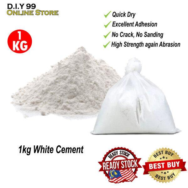 1KG White Cement for Tiles Gap / Wall treatment / Simen Putih