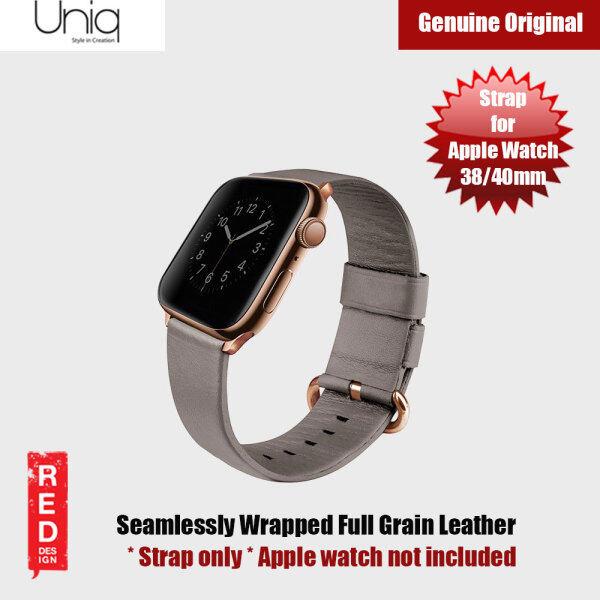 Uniq Mondain Series Full Grain Leather Strap for Apple Watch 38 40mm Series 4 Series 5 Series 6 SE (Beige) Malaysia