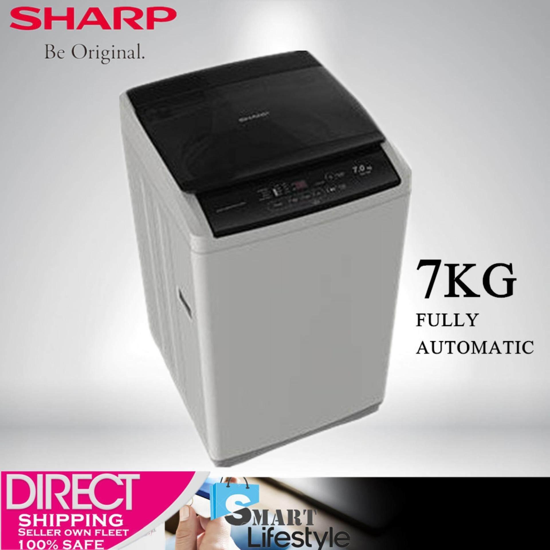 SHARP 7KG Fully Auto Washing Machine ES718X Washer