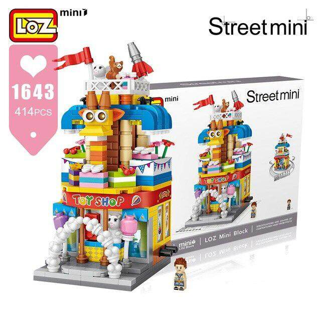 LOZ Mini Street 1643 - Toy Shop Mini Block Building Set
