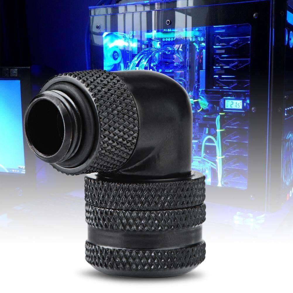 Giá Googoo PC Nước Làm Mát Cảm Ứng 2 Lắp G1/4 Chủ Đề 90 Độ Khuỷu Tay Kết Nối Cho 14 Mm Ống đen