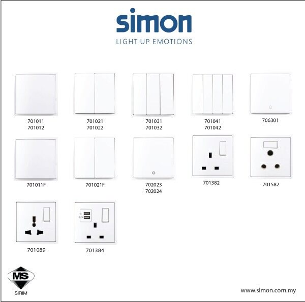 Simon I7 Series Switch  / Switches & Socket Outlet
