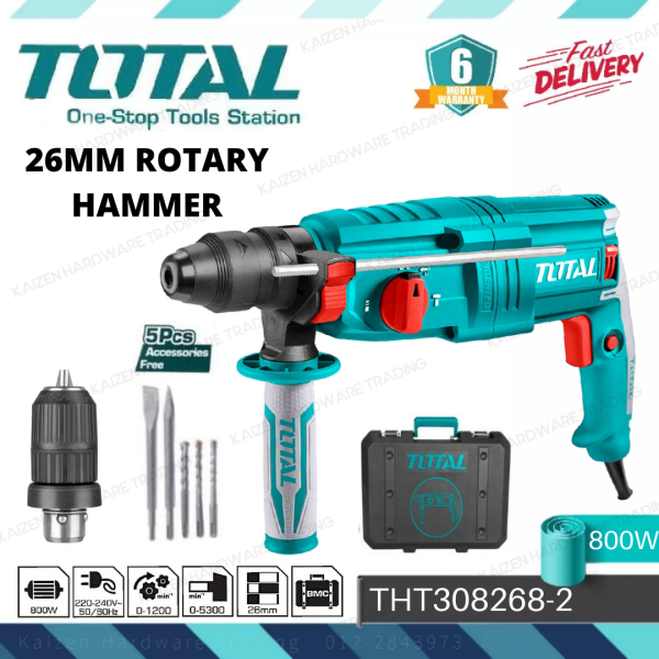 TOTAL TH308268-2 26MM ROTARY HAMMER 800W