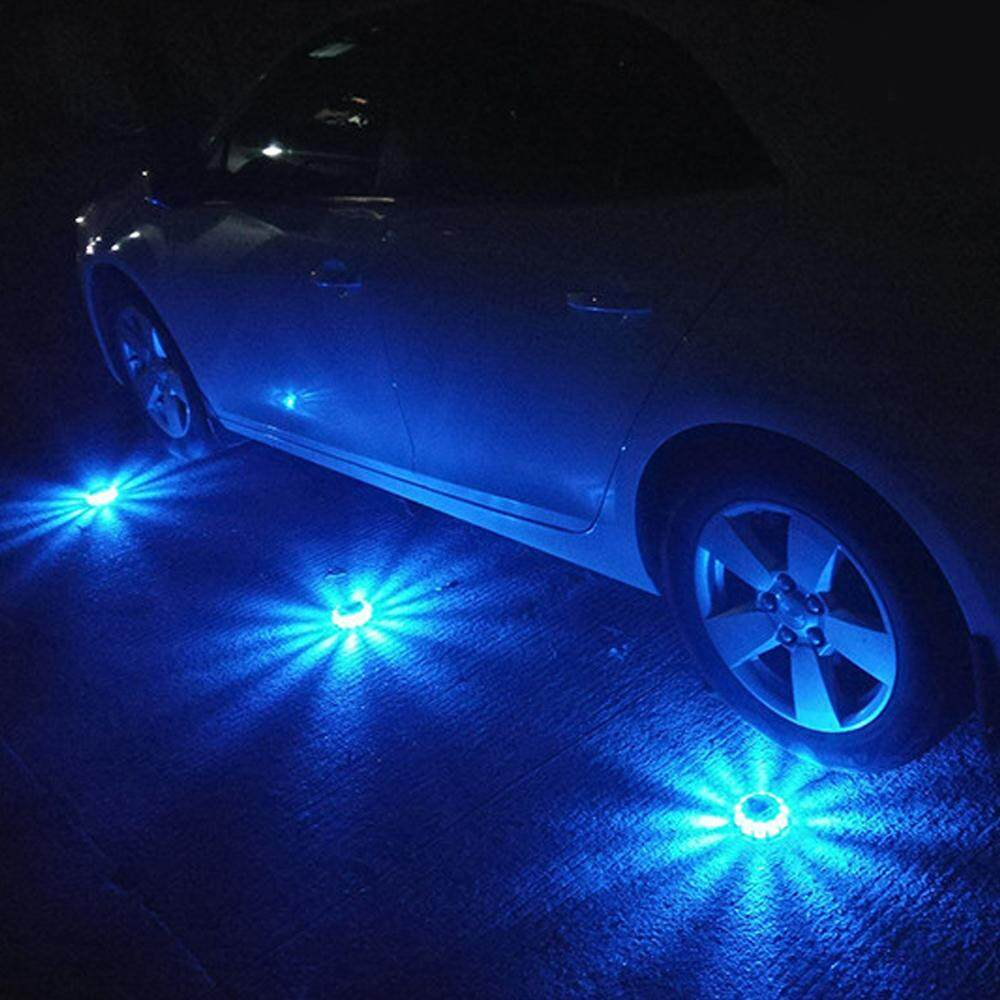 3pcs Safety Flares Warning Signal Flashlight Emergency Roadside Assistance LED Light with 9 Light Modes for Vehicles Car Truck Bike Style B