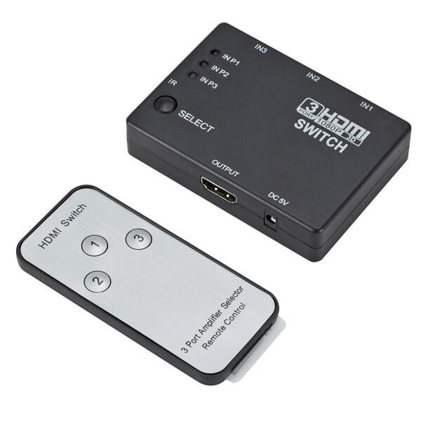 Giá Bộ Chuyển Đổi 3 Trong 1 Ra Bộ Chuyển Đổi Trung Tâm 3 Cổng Tự Động Chuyển Đổi 3X1 HDMI Splitter 1080P HD 1.4 Với Điều Khiển Từ Xa Cho HDTV XBOX360 PS3