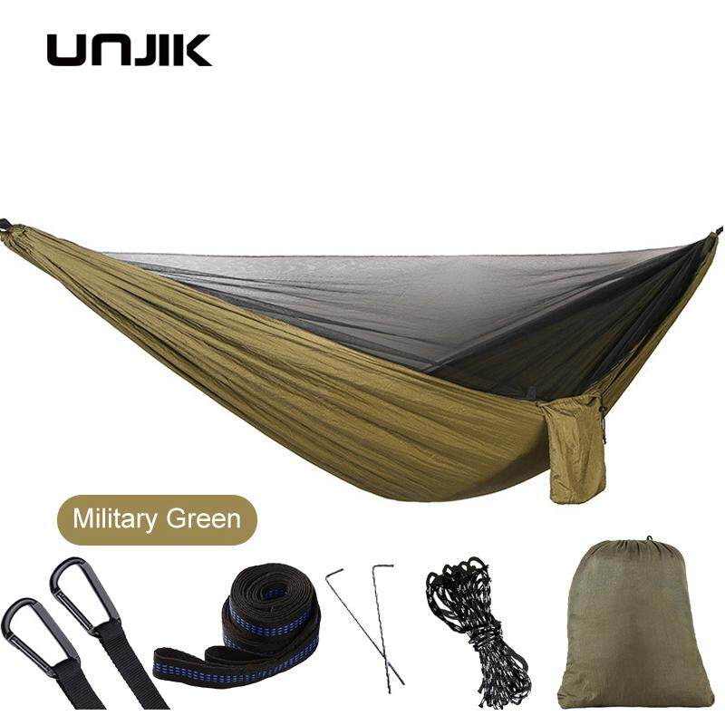 Portable Hammock  singles/Double Person Camping Survival Garden Swing Hanging Sleeping Chair Travel Furniture Hammocks with Mosquito Net