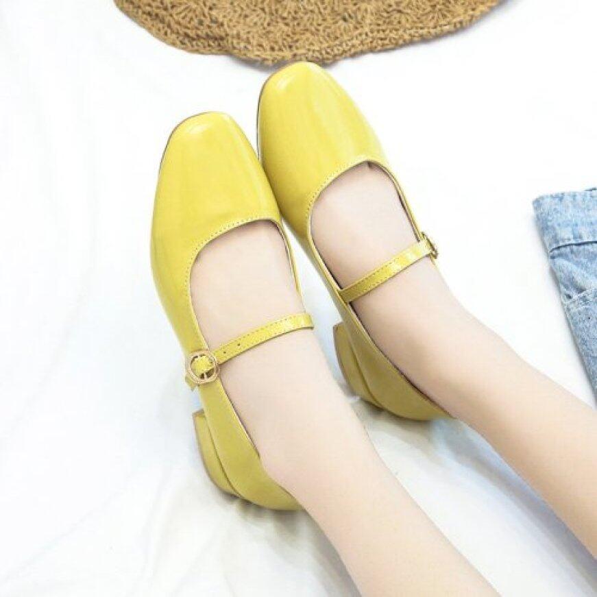Giày Mary Jane Mới 2020 Giày Cao Gót Đế Chắc Chắn Mũi Vuông Kiểu Pháp Cổ Điển Giày Cao Gót Nghệ Thuật Nhật Bản Giày Đơn Nữ giá rẻ