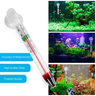 UINN Máy Đo Thủy Tinh 0-44 Độ C, Nhiệt Kế Nhiệt Độ Nước Bể Cá Bể Cá Có Cốc Hút thumbnail