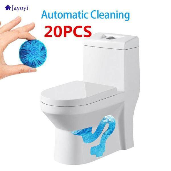 Jayoyi 20pcs Disposable Magic Automatic Flush Toilet Toilet Cleaner Assistant Scented Blue Ball Bubble Cleaning Bathroom Tools