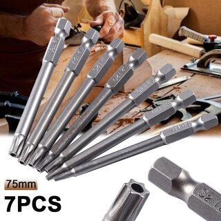 Bộ 7 Chiếc Tuốc Nơ Vít Lỗ Từ Tính 75Mm T8 T9 T10 T15 T20 T25 T30 T40 Torx thumbnail
