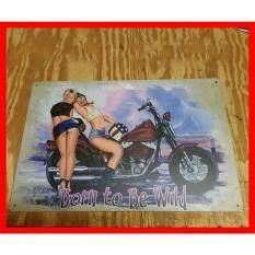 Harley1 Davidson1 Motorcycle1 Tín Kim Loại Người Động Ký Pinup Cô Gái Nhà Để Xe Thanh Trang Trí