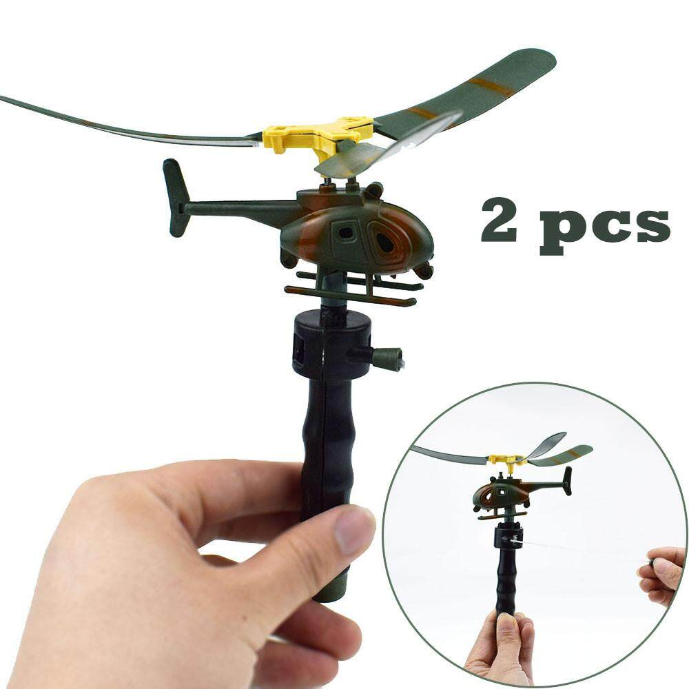 Foctroes 2pcs Funny Helicopter Kids Creative Outdoor Toy Drone Children's Day Gifts Education toys for kids boys girls