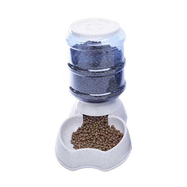 Huanhuang®Máy Cho Thú Cưng Ăn Tự Động 3,8L Bát Uống Nước Cho Chó Mèo, Hộp Đựng Thức Ăn Nước Dung Tích Lớn, Xám Cho Apple Thực Phẩm