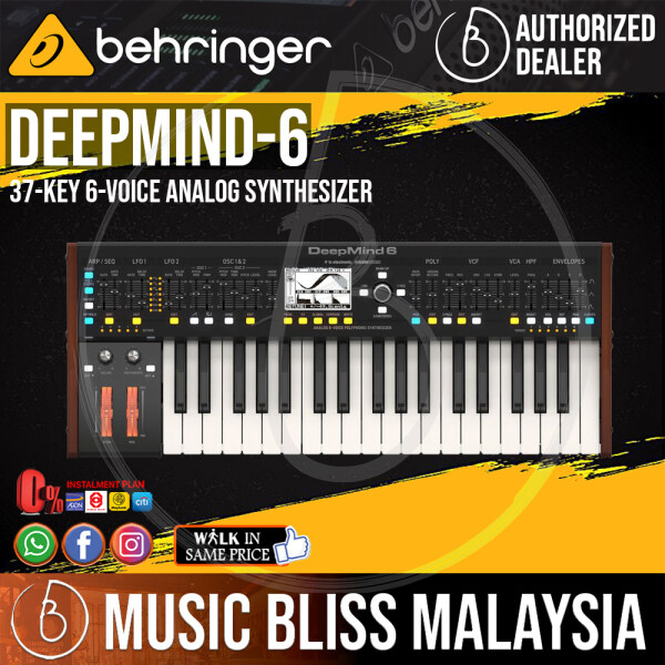 Behringer DeepMind 6 37-key 6-voice Analog Synthesizer (DeepMind6 / DeepMind-6) *Everyday Low Prices Promotion* Malaysia