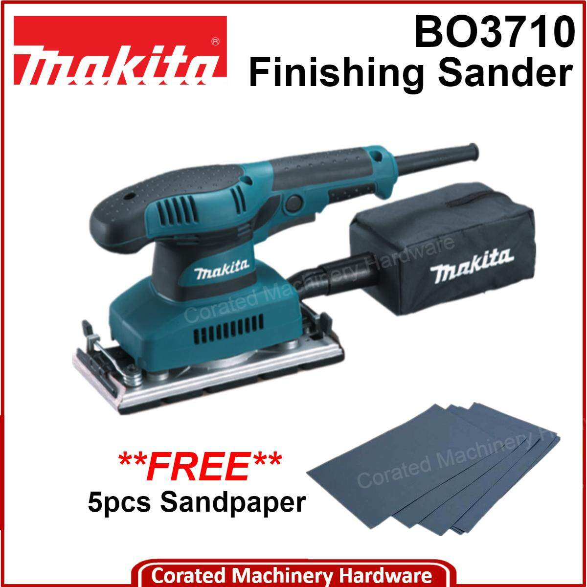 [CORATED] Makita BO3710 Finishing Sander (93 x 185mm, 190W) 1 Year Warranty
