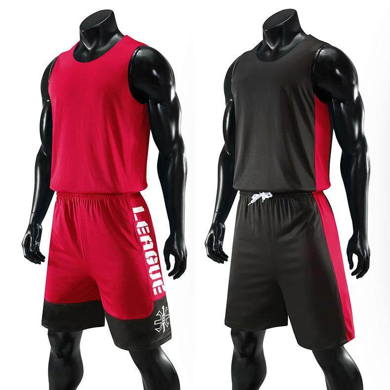Mens Reversible Basketball Jerseys Suit Youth Basketball Uniforms Kits Double Sided Sports Clothing Track Suit Throwback Jerseys Shorts And Tops By Coco Dream.