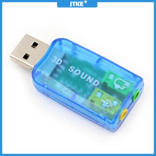 JTKE 5.1 Thẻ Âm Thanh USB Bên Ngoài Bộ Chuyển Đổi Âm Thanh Thẻ Âm Thanh USB Để Jack 3.5 Mét Tai Nghe Micphone Cho PC Máy Tính Xách Tay Máy Tính Xách Tay thumbnail