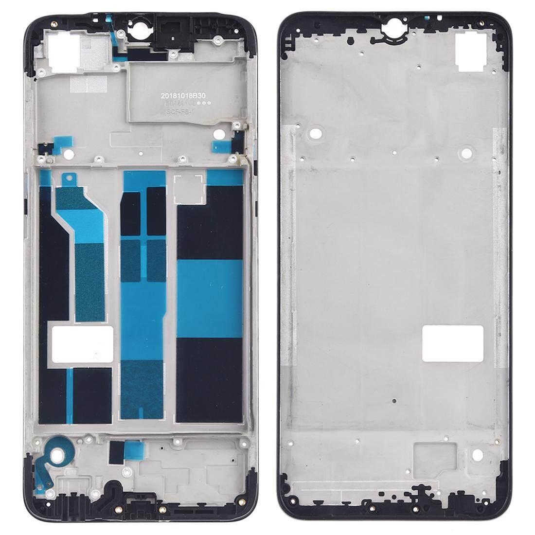 Hunian Depan LCD Bingkai Pelat Bezel untuk OPPO F9/A7X (Hitam)