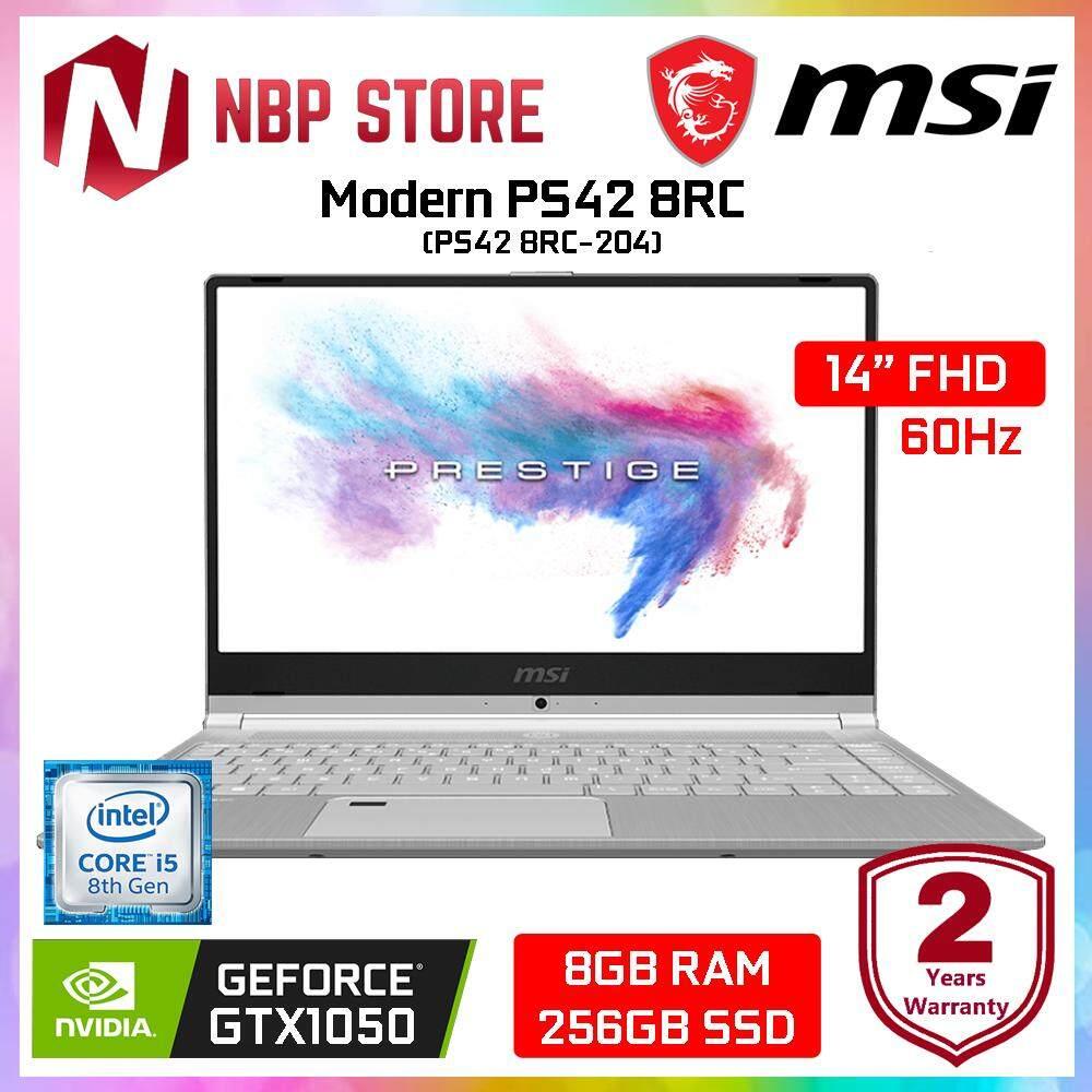 MSI Modern PS42 8RC-204 14 FHD Laptop Silver ( i5-8250U, 8GB, 256GB, GTX1050 4GB, W10 ) Malaysia