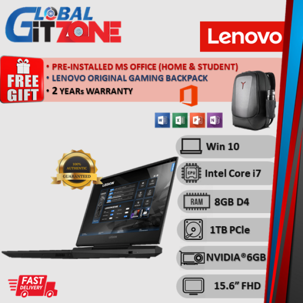 Lenovo Legion Y545 81Q6002PMJ 15.6 FHD 144Hz Gaming Laptop ( i7-9750H, 8GB, 1TB SSD, RTX2060 6GB, W10, HS ) NoteBook Malaysia