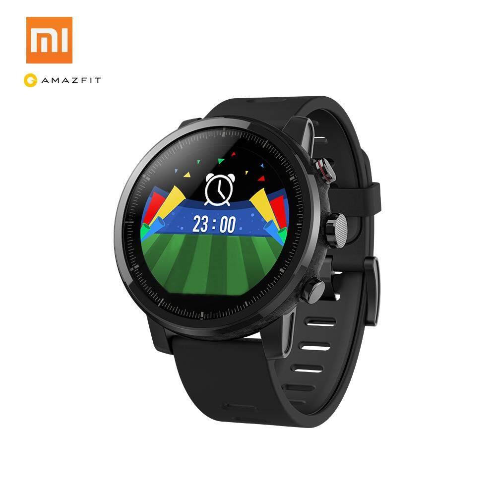 Xiaomi Huami Amazfit Stratos Jam Tangan Olahraga Pintar 2 GPS 512 MB 4 GB 5ATM Tahan Air 1.34 Inci 2.5D Corning Gorilla Layar Sentuh Firstbeat Renang jam Pintar untuk Android IOS