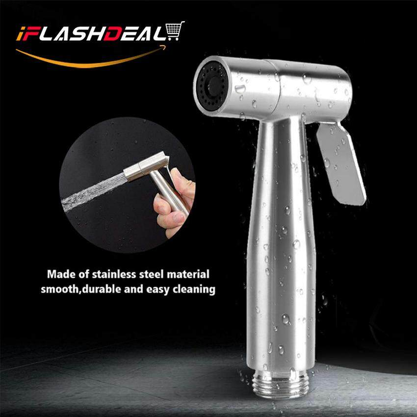 Iflashdeal Water Spray Handheld Cloth Diaper Bidet Stainless Steel High Pressure Hand Held Shower Washer Water Sprayer Head For Bathroom, Toilet By Iflashdeal.