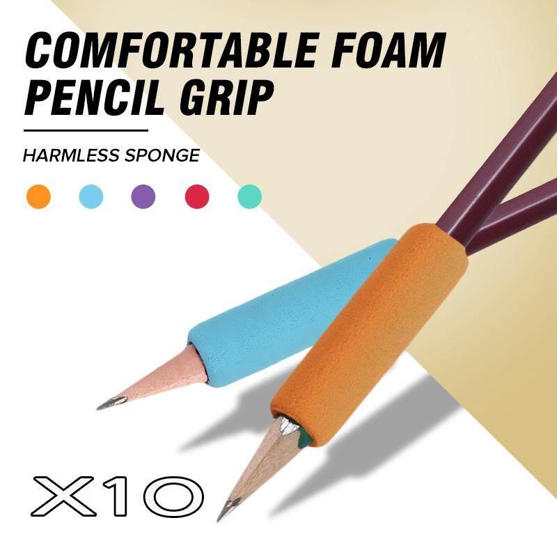 【Free Pengiriman + Flash Deal】color Acak 10 Buah Busa Lembut Pena Pensil Anak-anak Tulisan Tangan Grip Koreksi Postur Tulisan Perlengkapan