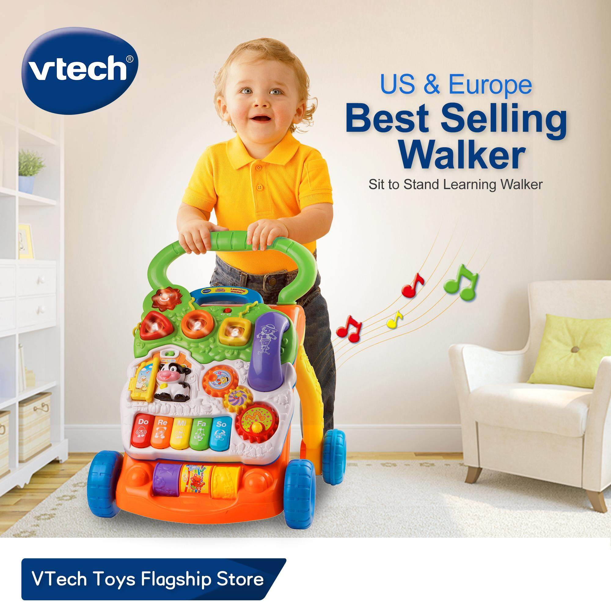 VTech Baby Walker【US & Europe #1】with Speed Control, Music, Educational Learning SIt-to-Stand Learning Walker Toys for 9 - 36 Months Baby Infant Toys 1 years