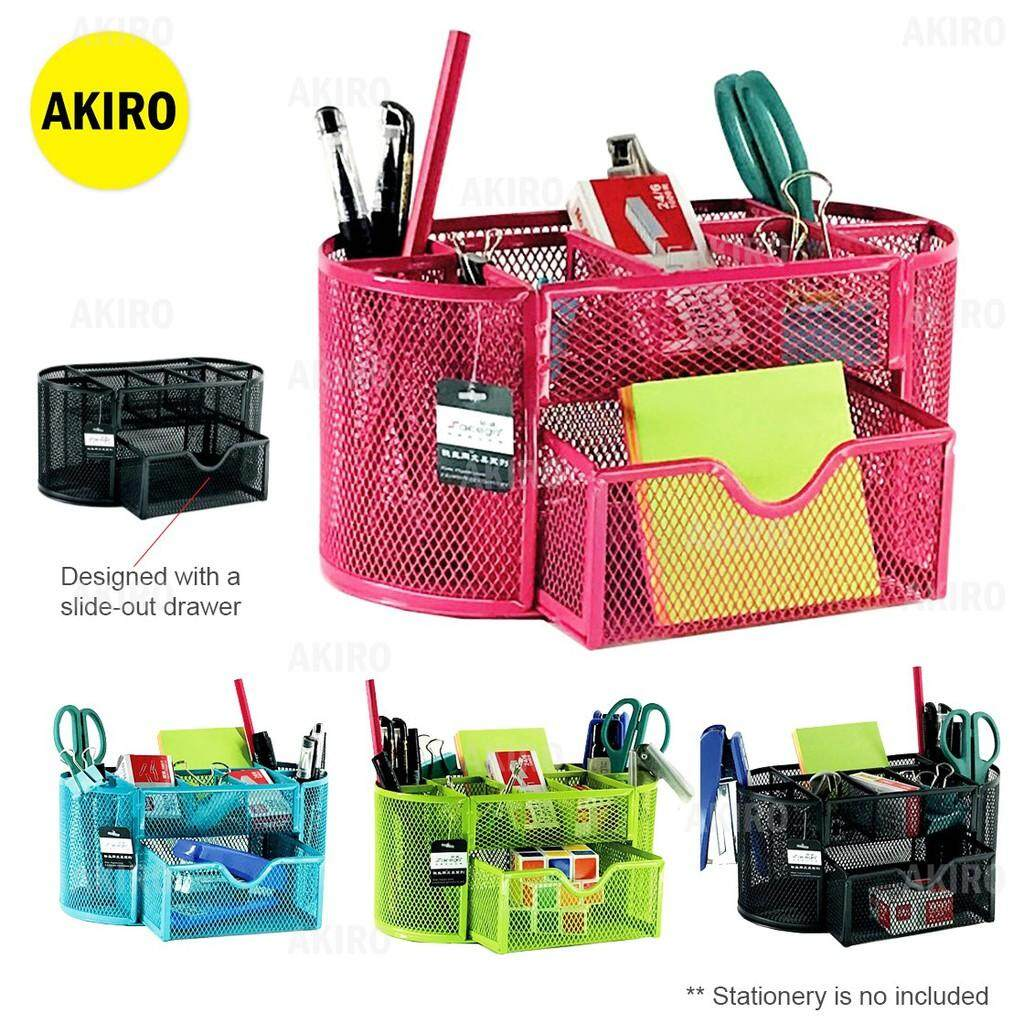 #READY STOCK# 9 Storage Pen Holder Stationery Storage Container Box Drawer Office School WW
