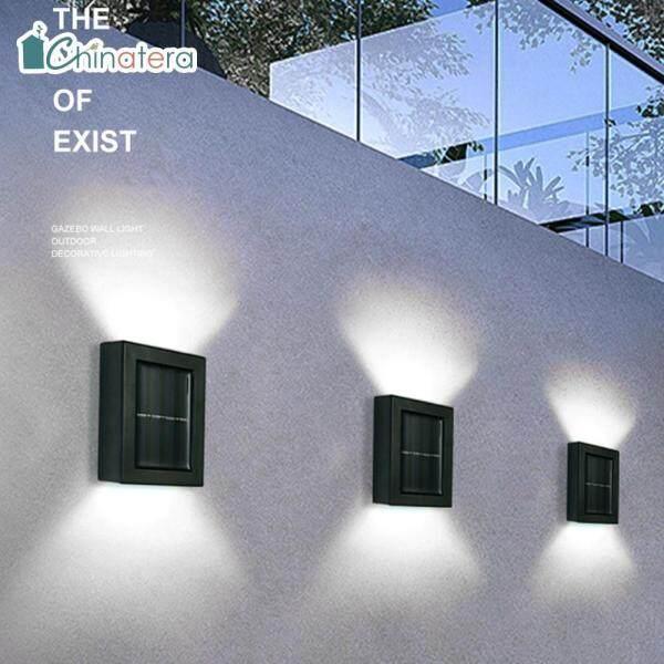 [Chinatera] 2 Đèn LED Năng Lượng Mặt Trời Thông Minh, Đèn Tường Ngoài Trời Để Trang Trí Lối Đi Sân Vườn