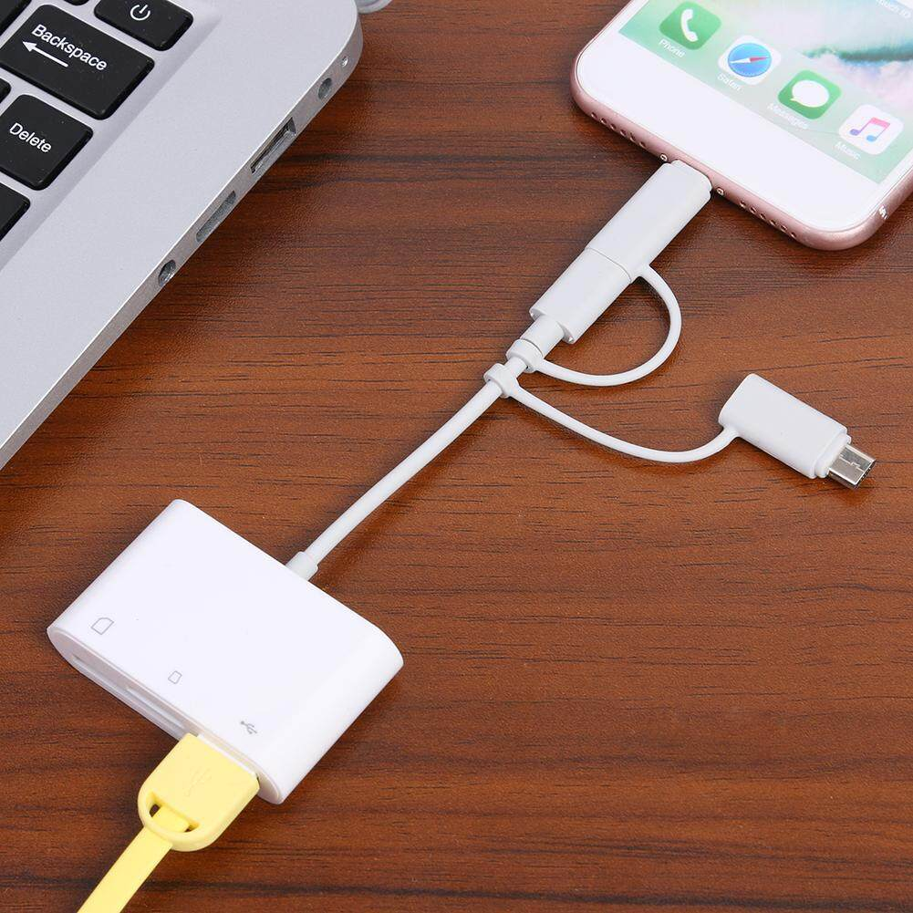 〔Jianier meiyi〕3 in 1 8 Pin to TF/Memory Card/USB2.0 Camera Connection Data Sync Cable