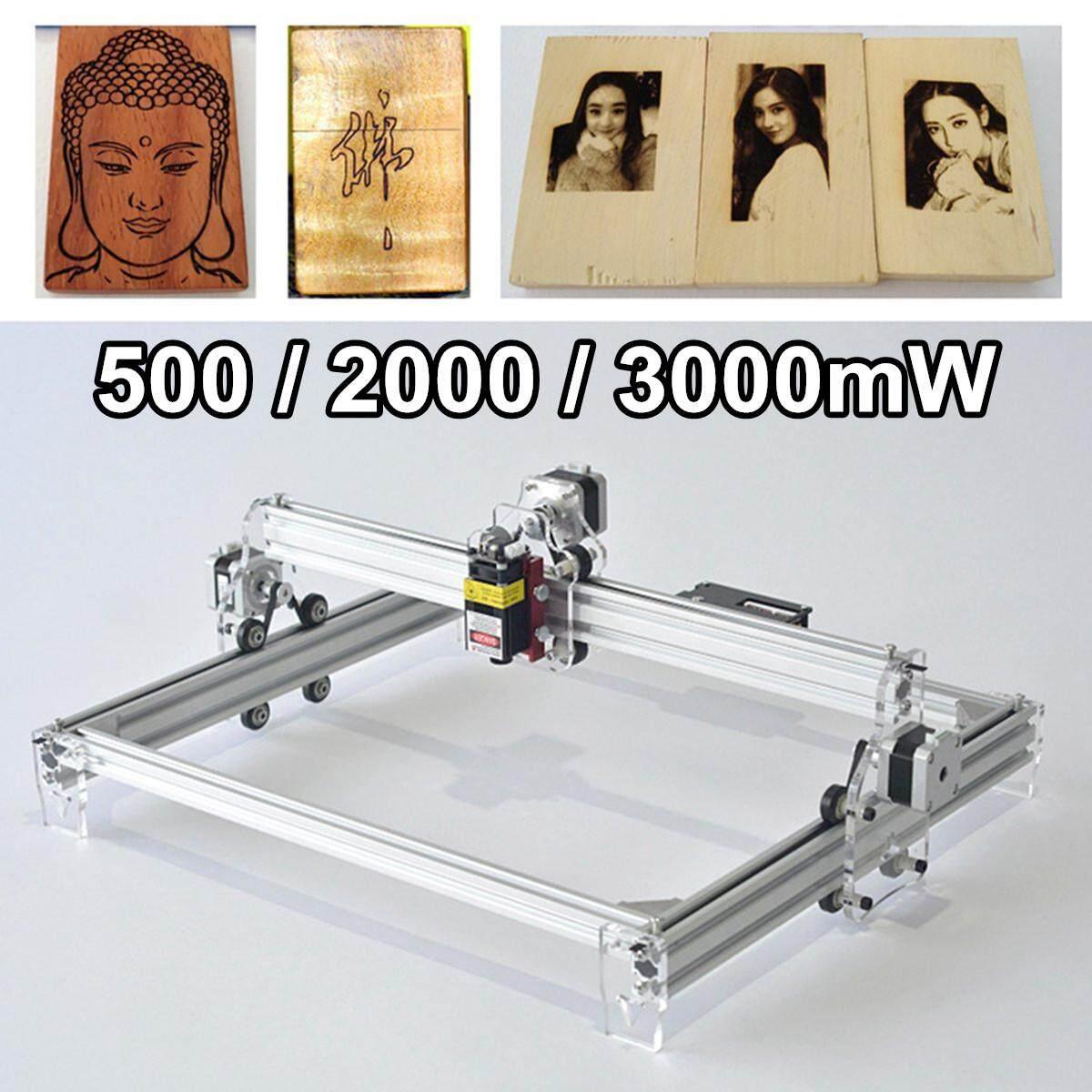 DIY Desktop cnc router Metal laser cutter engraving machine USB engraver #  3000mw